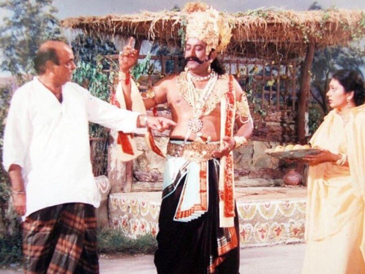 નરસિંહ મહેતાના રોલને કારણે અરવિંદભાઈને રાવણનો રોલ મળ્યો!, સિરિયલમાં જ્યારે રાવણવધ થયો એ દિવસે આખો દેશ રડ્યો હતો|બોલિવૂડ,Bollywood - Divya Bhaskar
