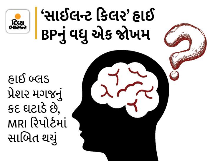 હાઈ BPથી પીડાતા યુવાનોનાં મગજ સંકોચાઈ રહ્યા છે, લાંબા સમય સુધી બ્લડ પ્રેશર વધવાને લીધે મેમરી પાવર ઘટી શકે છે આથી હંમેશાં રહો અલર્ટ|હેલ્થ,Health - Divya Bhaskar