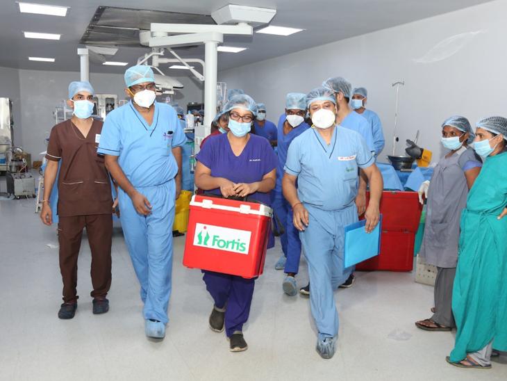 મિત્તલબેન ના અંગદાનમાં 2 કિડની, લીવર, સ્વાદુપિંડ અને હૃદયનું દાન મેળવવામાં સફળતા મળી હતી