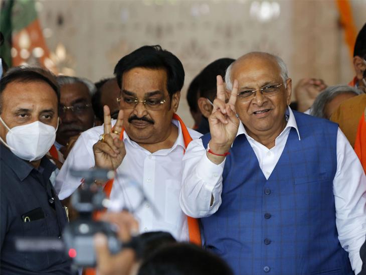 ભાજપ ત્રીજી ટ્રાયલમાં પાસ - પહેલીવાર પાટનગરમાં ભાજપે 93% બેઠકો જીતી લીધી|ગાંધીનગર,Gandhinagar - Divya Bhaskar