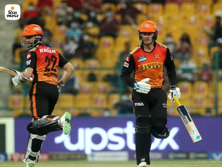 બીજી વિકેટ માટે જેસન રોય અને કેન વિલિયમ્સન વચ્ચે 58 બોલમાં 70 રન કર્યા હતા.