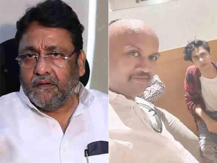 'ક્રૂઝ પર NCBની સાથે ભાજપનો માણસ હતો, જે મુંદ્રા ડ્રગ્સ વખતે ગાંધીનગર હતો, આર્યન પાસેથી કોઈ ડ્રગ્સ નથી મળ્યું': NCPના નવાબ મલિકનો દાવો|બોલિવૂડ,Bollywood - Divya Bhaskar