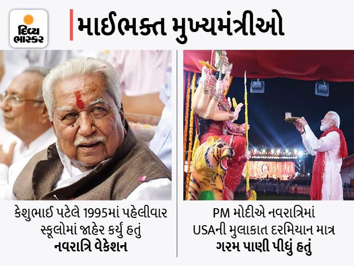 નરેન્દ્ર મોદી પણ દર નવરાત્રિએ જતા નગરદેવીના દર્શને, કેશુભાઈએ નવરાત્રિ વેકેશન જાહેર કર્યું હતું, ભૂપેન્દ્રભાઈએ પણ કર્યા ભદ્રકાળીના દર્શન અમદાવાદ,Ahmedabad - Divya Bhaskar