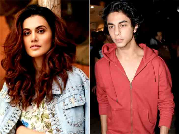 આર્યન ખાન અંગે તાપસી પન્નુએ કહ્યું, સ્ટાર ફેમિલીમાં હોવાનો ફાયદો ને નુકસાન બંને છે|બોલિવૂડ,Bollywood - Divya Bhaskar