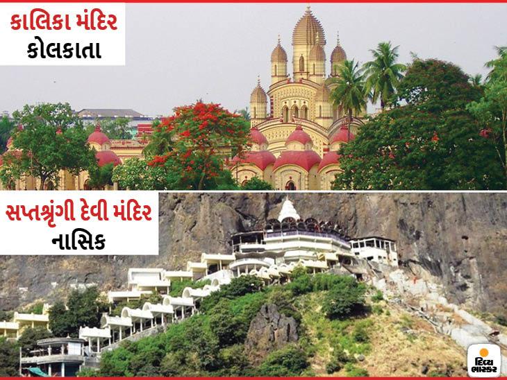 મહારાષ્ટ્રમાં દેવીનું સપ્તશ્રૃંગી મંદિર સાત પર્વતોથી ઘેરાયેલું છે, કોલકાતામાં કાળી મંદિર લગભગ 25 એકરમાં બનેલું છે|ધર્મ,Dharm - Divya Bhaskar