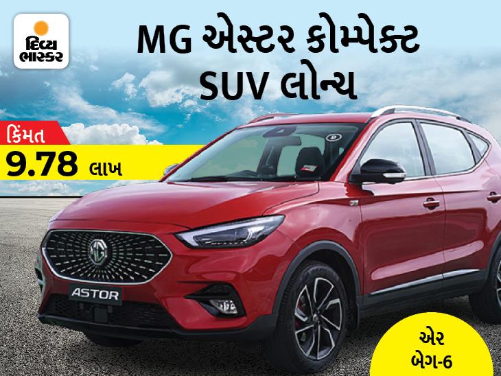 આર્ટિફિશિયલ ઈન્ટેલિજન્સ અને એડવાન્સ ફીચર્સથી સજ્જ 'MG એસ્ટર SUV' લોન્ચ થઈ, કિંમત 9.78 લાખ રૂપિયા|ઓટોમોબાઈલ,Automobile - Divya Bhaskar