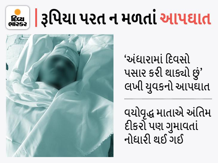 મૃતકની સુસાઈડ નોટના આધારે આરોપી સામે તપાસ હાથ ધરાઈ છે. - Divya Bhaskar