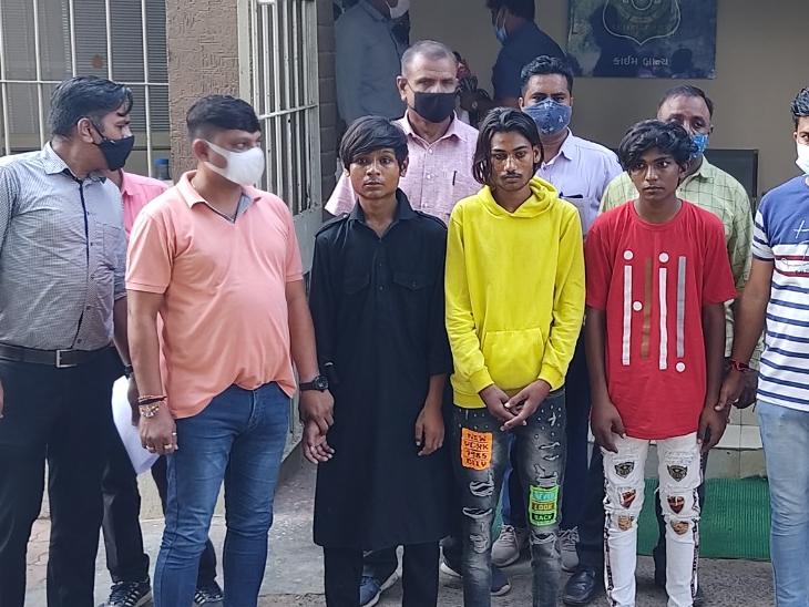 દેવાંશ ભાટીયાની હત્યા કરનાર આરોપીઓ. - Divya Bhaskar